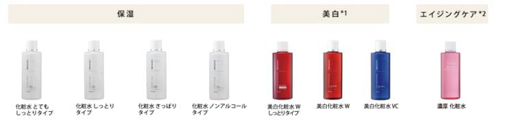 化粧水ラインナップ